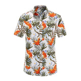 Beach Hawaiian Shirts Cotton Casual Floral Shirts