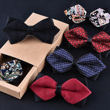Bow tie black red cravat formal commercial suit wedding ceremony