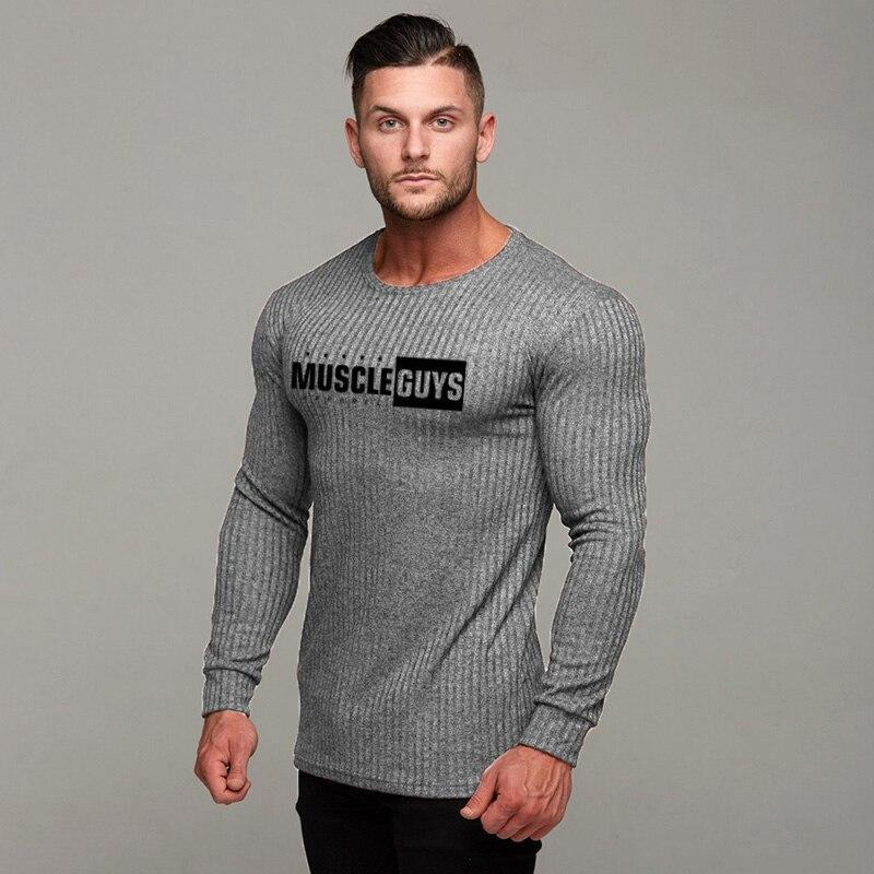 Casual Male Sweater O-Neck Slim Fit