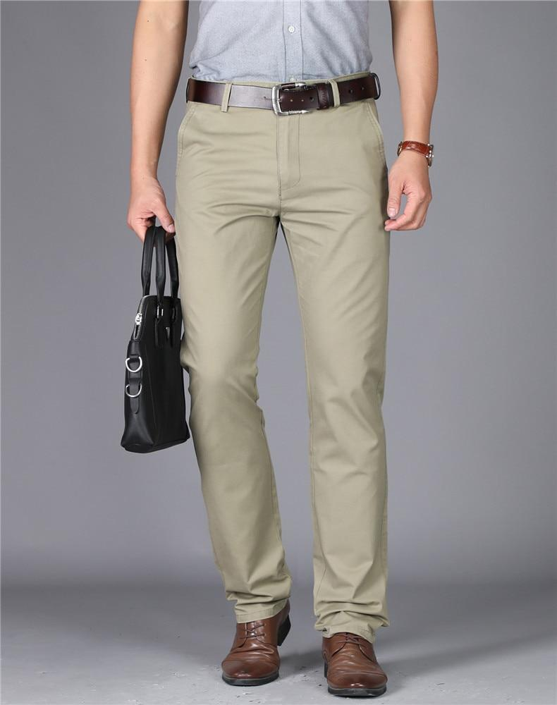 Casual Men's Trousers High-waisted
