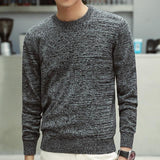 Casual O-Neck Slim Cotton Knit Quality Sweaters - NewVision