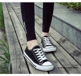 Casual White Sneakers Breathable Walking Canvas