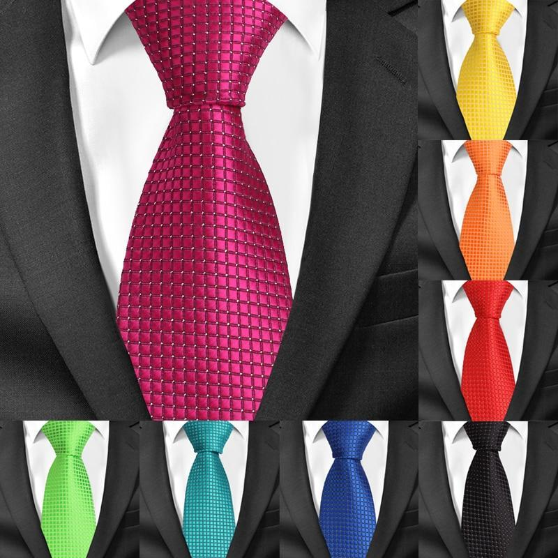 Classic Plaid Neck Ties for Men