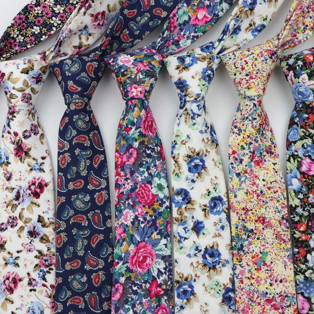 Colorful Floral Stitching Necktie Lovely Fashion