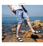 Cotton Straight Male Blue Casual Short