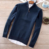 Cotton sweater casual stand collar