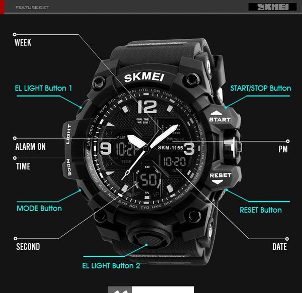 Fashion Sports Watches-Waterproof Watch - NewVision