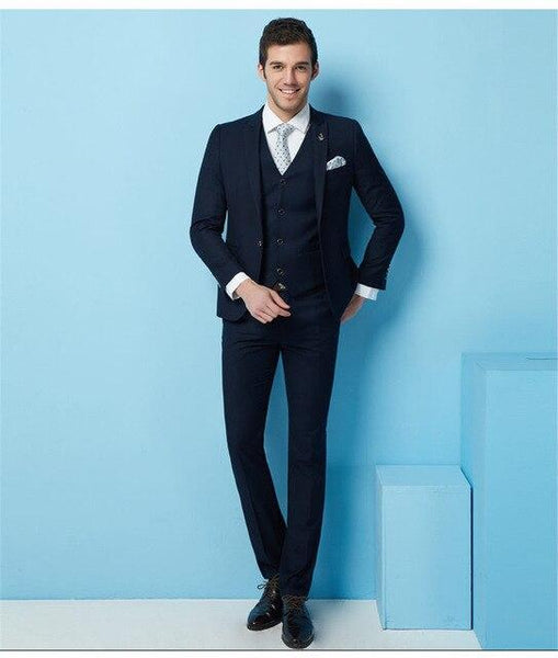 (Jacket+Pants+Vest) Wedding Suits