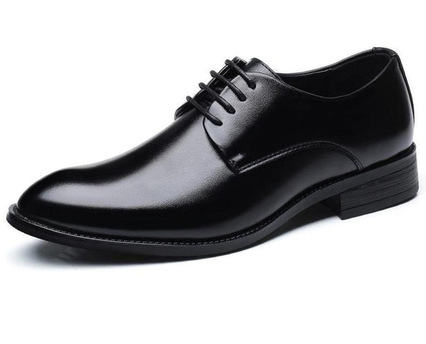 Leather Black Wedding Shoes Oxford Formal