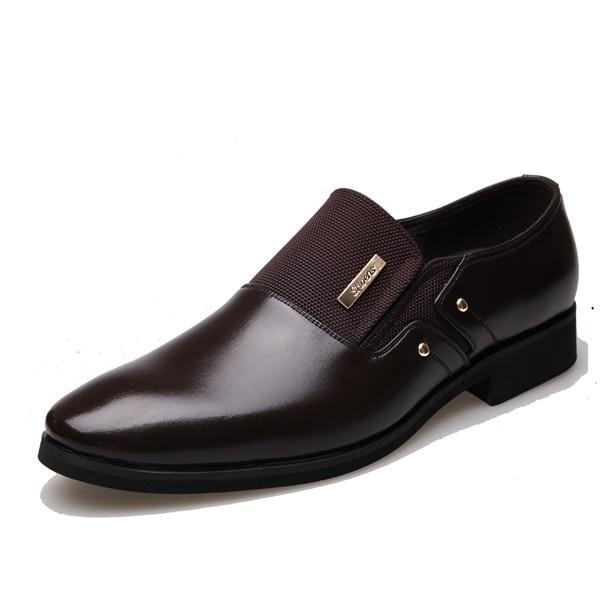 Leather Fashion Men Shoes - NewVision