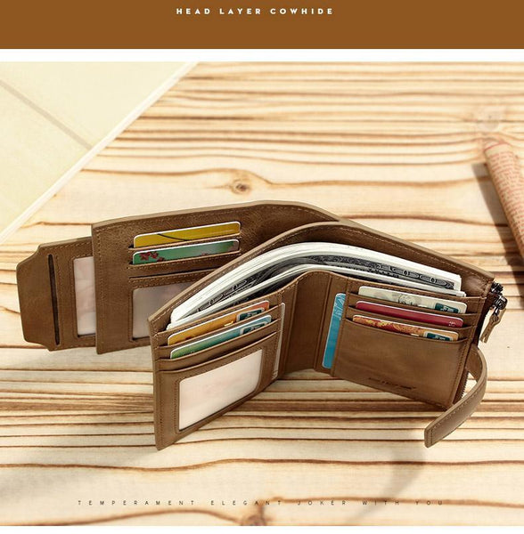 Leather Men's Purses Wallets - NewVision