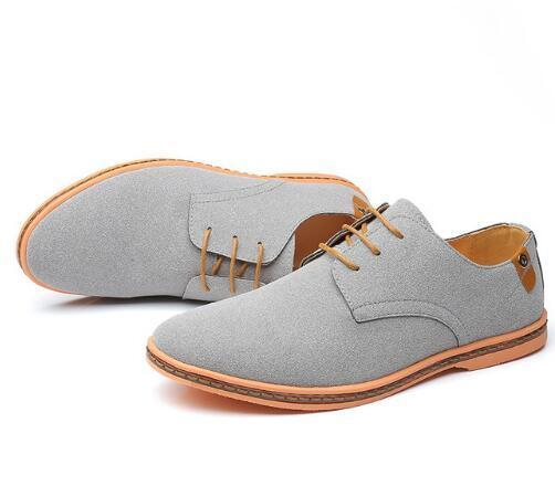 Leather Men Shoes - Oxford Casual Classic Sneakers - NewVision