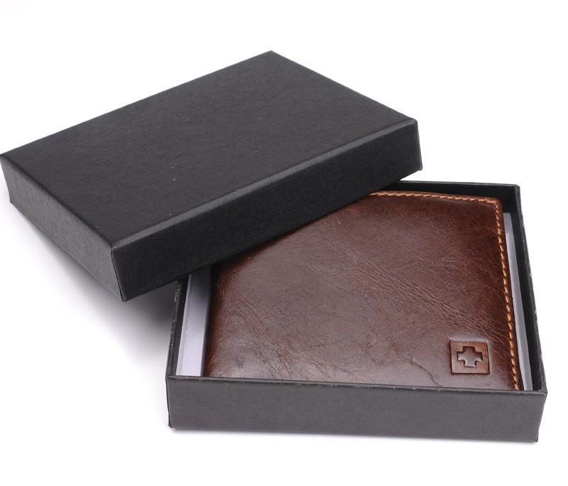 Leather Wallet -Black Brown Wallet - NewVision