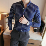 Long Sleeve Shirts-Striped Classic-Shirt