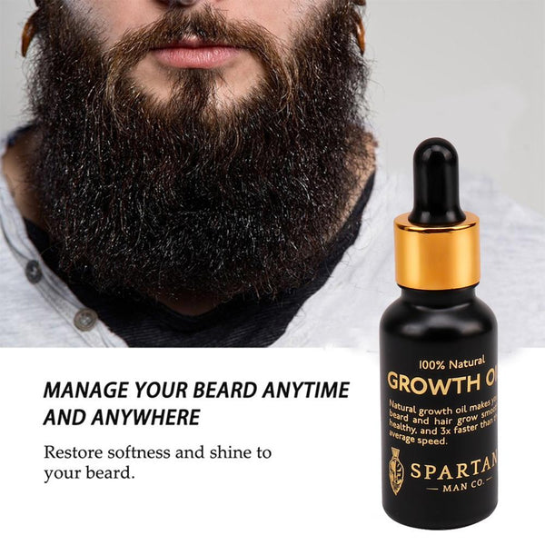 Men Beard Growth  Oil Kit Soften Hair Growth Nourishing