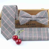 Men's 100% Cotton Skinny Striped - Bow Tie - NewVision