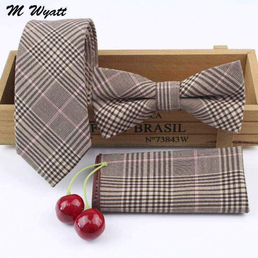 Men's 100% Cotton Skinny Striped - Bow Tie