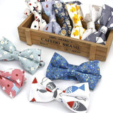 Men's Adjustable Formal 100% Cotton Vintage Animal Print Bow Tie