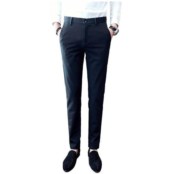 Men's Pants Pure Color Business Wedding Dress - NewVision