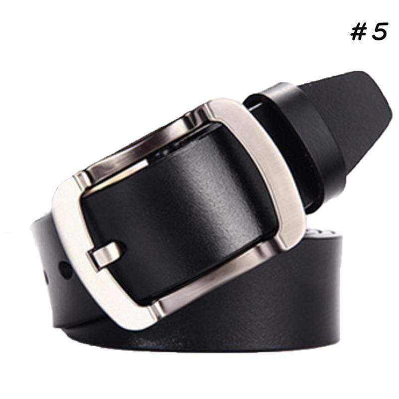 Men's Real Leather Smooth Belt