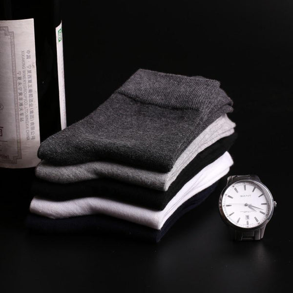 Men Socks Cotton & Bamboo Fiber Classic Business Men's Socks - NewVision