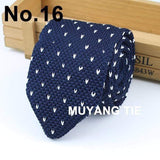 New Knitted Knit Leisure Triangle Striped Ties