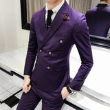 New men's suits England style wind double breasted - NewVision