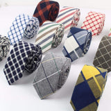 Plaid Necktie Casual Sweet Rainbow