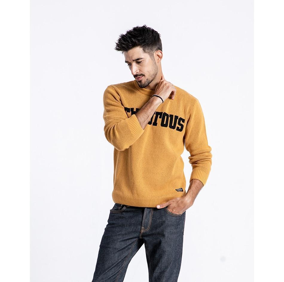 pring Winter Cotton Pullover O-neck Letter Sweater - NewVision