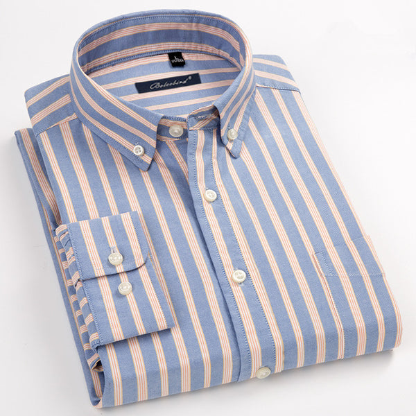 100% Cotton Oxford Mens Shirts Big Size 8XL