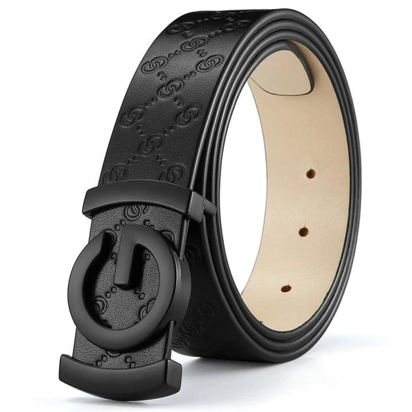 Leather designer belts for men