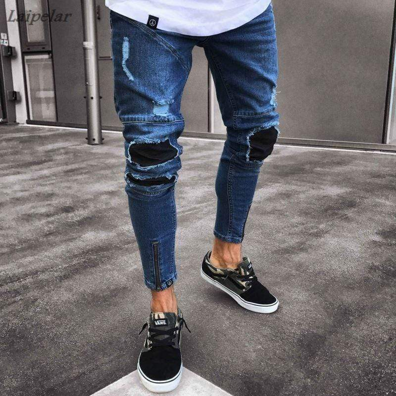 Ripped Skinny Jeans With Holes