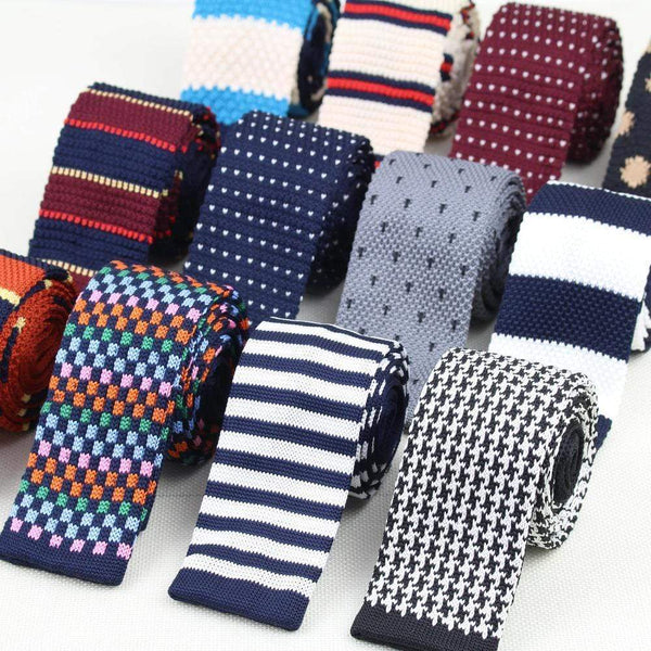 Striped Ties For Men Skinny Woven