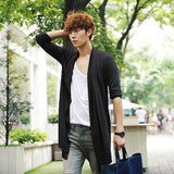 Thin Cardigan Korean Male Cloak Coat