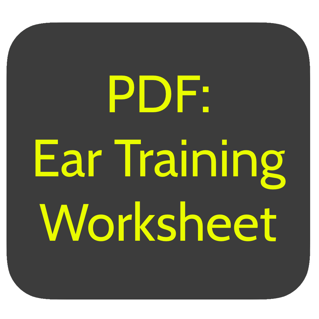 Ear Training - Song Worksheet