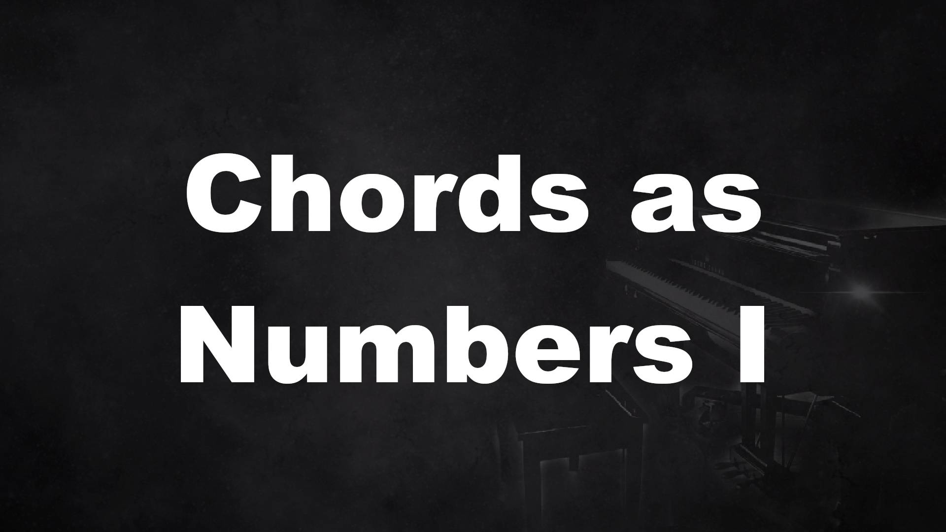 Chords as Numbers I