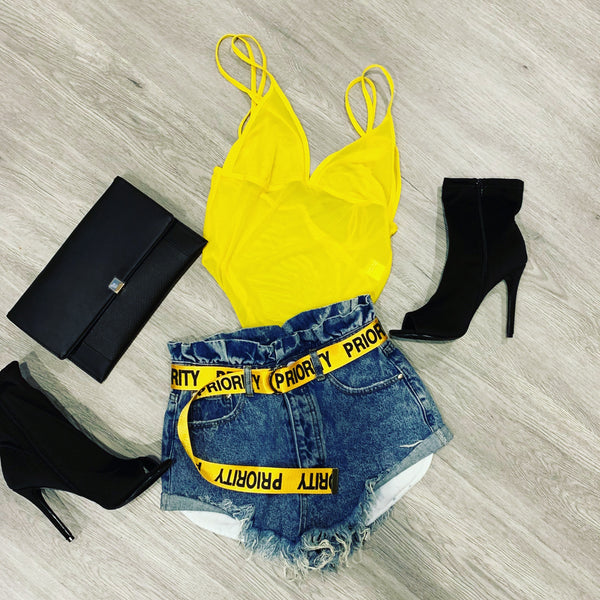 YELLOW SUNSHINE BODYSUIT