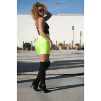 SLIME BANDAGE NEON MINI SKIRT GREEN