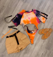 TYE-DYE DOLL SWIMSUIT