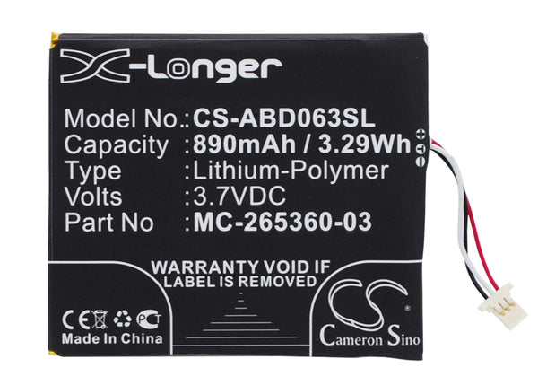 Amazon kindle 499, kindle 558, Kindle 7, Kindle 7th Generation, SY69JL, WP63GW Replacement Battery
