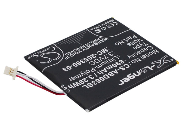 Battery for Amazon Kindle 7, kindle 499, kindle 558, SY69JL, WP63GW