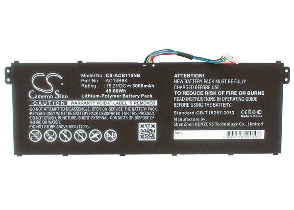 Gateway NE511, NE512 Replacement Battery
