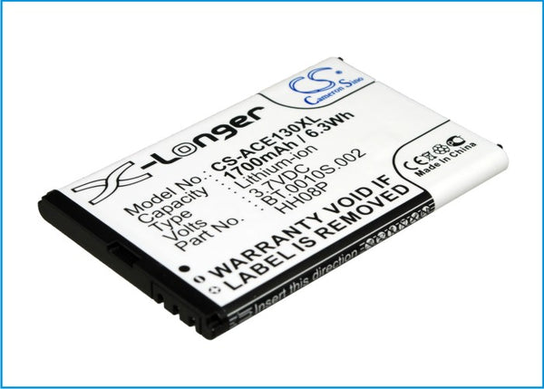 Battery for Acer beTouch E130 B, beTouch E130, beTouch E140 (1700mah)