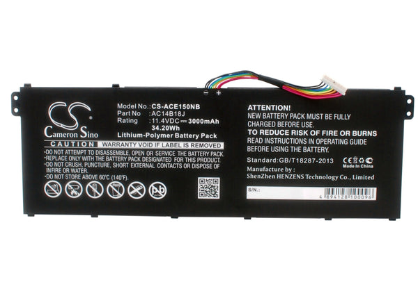 Gateway B116-M, B116-MP, NE513 Replacement Battery