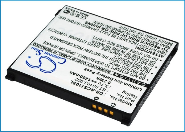 Acer Liquid S110, NeoTouch S110, S110, Stream Replacement Battery