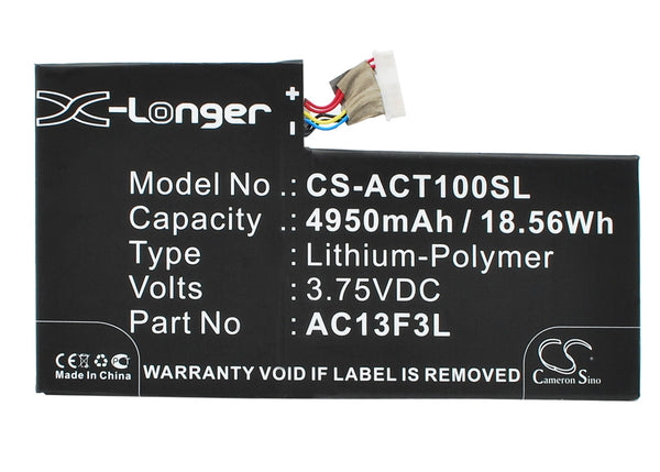 Acer A1-A810, Iconia Tab A1, Iconia Tab A1-810, W4-820P Replacement Battery