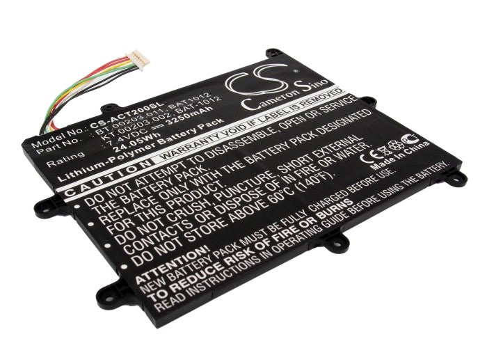 Battery for Acer Iconia Tab A200, Iconia Tab A210
