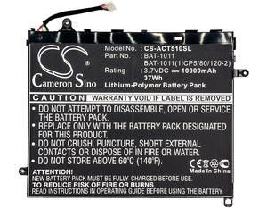 Battery for Acer Iconia Tab A510, Tab A700, Tab A710