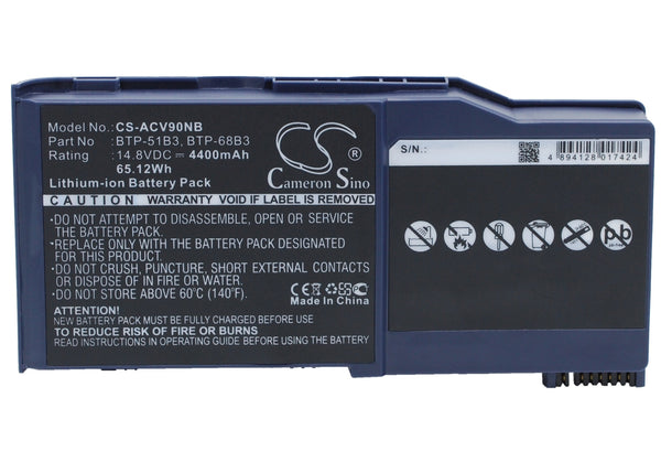 Medion MD2678, MD2900, MD6179, WIM2000 Replacement Battery