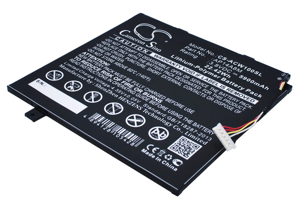 Battery for Acer Aspire Switch 10, Iconia Tab 10 A3-A20, A3-A20FHD, NTL4TET016, SW5-011, SW5-012, SW5-012P